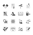 Legal Compliance Icons Set vector image vector image