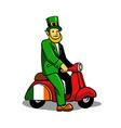 Leprechaun Ride Scooter vector image vector image
