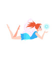 little fairy cute cartoon female character with vector image vector image