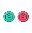 mail download line icon incoming messages vector image vector image