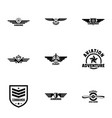 military label icons set simple style vector image vector image