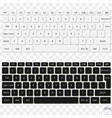 modern laptop keyboards white and black computer vector image
