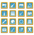 musical instruments icons set sapphirine square vector image