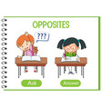 opposite words with ask and answer