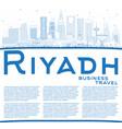 outline riyadh saudi arabia city skyline with vector image vector image