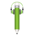 pencil and headphones s vector image vector image
