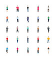 people character icon pack vector image vector image