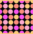 polka dots seamless patterntextile ink brush vector image vector image