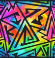 rainbow grometric seamless pattern vector image vector image