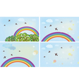 rainbows vector image