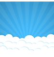 Rays and clouds vector | Price: 1 Credit (USD $1)
