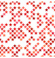 red seamless pentagram star pattern background vector image vector image