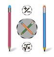 school pencil vector image