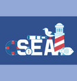 sea summer adventure banner vector image vector image