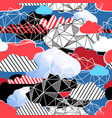 seamless bright pattern from different clouds vector image vector image