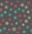 seamless hipster floral pattern vector image vector image