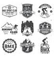 set bmx mtb extreme sport club badge vector image vector image