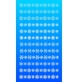 Set of scribble snowflakes borders vector image