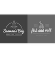 Set of Sea Food Elements and Sea Signs can be used vector image vector image