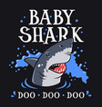 shark t shirt 007 vector image