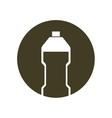 silhouette olive bottle plastic cook ingredient vector image