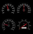 Speedometers black various scales vehicles