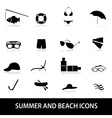 summer and beach icons eps10 vector image vector image