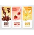 Sweet Milk Banners Set vector image