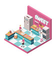 sweet shop kitchen isometric vector image vector image
