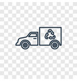 truck concept linear icon isolated on transparent vector image vector image