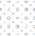 ui icons pattern seamless white background vector image vector image