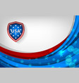 usa background for independence vector image vector image
