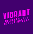 vibrant alphabet pink shades artistic font vector image vector image