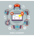 Wheel Alignment Flat Design Concept vector image vector image