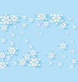 winter origami snowflake greeting banner with blue vector image