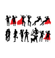 woman activity silhouettes vector image