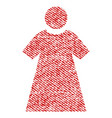 woman fabric textured icon vector image vector image