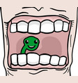 worm tooth vector image vector image