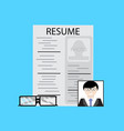 employment job candidate vector image