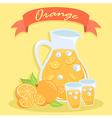 Fresh Orange Juice Pitcher vector image