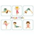 Yoga kids vector image