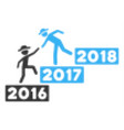 2017 business training stairs halftone icon vector image