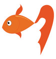 a cute yellow fish with a long and beautiful tail vector image vector image