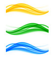 abstract elegant wavy lines set vector image vector image