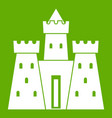 ancient castle palace icon green vector image vector image
