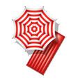 beach umbrella and air mattress vector image vector image