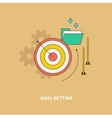 Beginning of the Business Process is Goal Setting vector image vector image