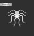 black and white style icon of octopus vector image