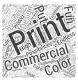 Booming Commercial Printing Business Word Cloud vector image vector image