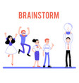 braindstorm male female character flat set vector image vector image